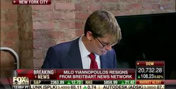 Milo Yiannopoulos Holds Press Conference To Resign From Breitbart