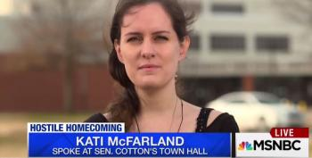 Kati McFarland Slams Sen. Tom Cotton: 'He Seemed To Repeat My Own Question Back At Me'