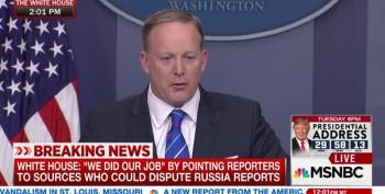 Sean Spicer Tries Really Hard To Deny Russian Connections To Trump Campaign