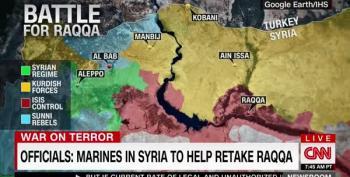 Marines Arrive In Northern Syria To Help Take Raqqa