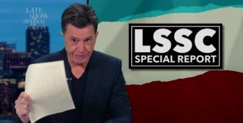 Sincerest Form Of Flattery?  Colbert Satirizes Maddow