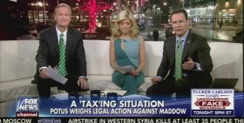 Fox And Friends Claims Trump May Sue Rachel Maddow And NBC For Releasing Tax Documents