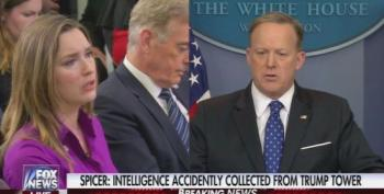 Spicer Gets Defensive When Called Out Over Rep. Nunes' Spin Control 'Incidental Moitoring'