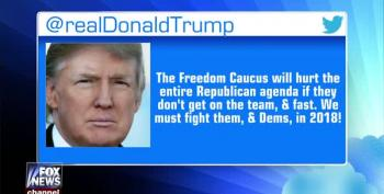 Trump: Freedom Caucus Must Get On Board Or Be Destroyed