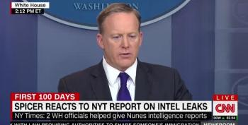 Sean Spicer's Word Salad Answer To Reports That Trump Aides Gave Nunes Intelligence
