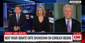 Sen. Orrin Hatch Complains That Comparing Nominations Of Gorsuch To Garland Is B.S.