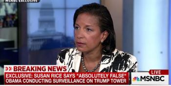 Susan Rice Calls Trump's 'Wiretapp' Claim 'Absolutely False'