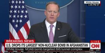 Spicer Runs From Podium Before Answering If Trump Knew About MOAB Bombing