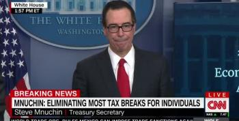 Mnuchin Can't Spin Trump's Tax Returns At Presser