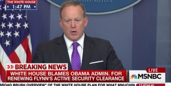 Spicer Blames Michael Flynn's Lousy Vetting On Obama
