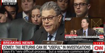 Sen. Franken To Comey: Trump's Tax Returns Relevant To Russian Investigations