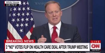 Sean Spicer Speaks Gibberish On Trumpcare Covering Preexisting Conditions