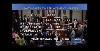 GOP House Passes Trumpcare 217-213