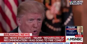 Trump Lies About 'Three Times' Comey Said He Wasn't Under Investigation