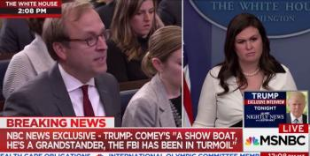 Jonathan Karl's Heated Exchanges With Sarah Sanders Over Different Lies On Comey Firing