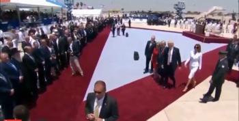 Melania Swats Away Donald's Hand
