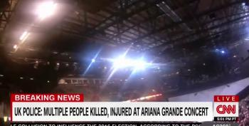Large Explosion At Manchester Arena In England At End Of Concert