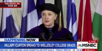 Hillary At Wellesley Remembers A President Impeached For Obstruction Of Justice