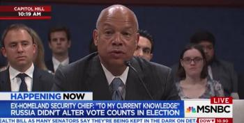 Obama Homeland Secretary: We Knew Russians Were Expanding Interference In October