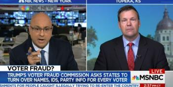 Ali Velshi Catches Kris Kobach Pushing Voter Fraud Lie
