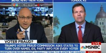 Ali Velshi Catches Kris Kobach Pushing Voter Fraud Lie