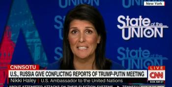 Haley Goes Off Message, Tries To Claim Trump Playing Eleventy Dimensional Chess With Putin