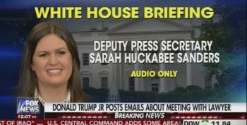 Sarah Huckabee Sanders Reads Statement From Trump About His Son