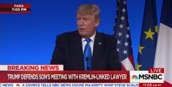 Trump Defends Junior's Meeting With Kremlin Lawyer By Blaming Loretta Lynch