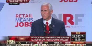 Mike Pence Speech To Retailers Went Over Like A Lead Balloon