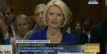 Callista Gingrich Confirmation Hearing For Ambassador To Vatican