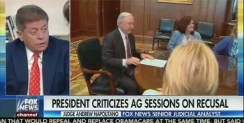 Judge Napolitano: Trump's Statements On Session Demoralizing To Justice Department