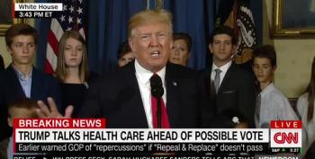 Trump Blames The Democrats For Not Fixing Trumpcare Bill