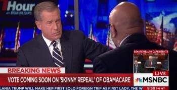 Brian Williams Tries 'But The Democrats' During Skinny Repeal Vote