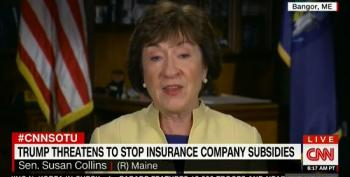 Susan Collins Knocks Down Trump Talking Point On Insurance Company 'Bailouts'