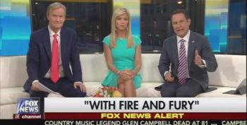 Fox And Friends: Trump's North Korea War Words 'Right On Target'