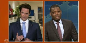 Bill Hader Makes An Appearance As 'The Mooch' On SNL's Weekend Update