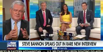 Newt Slams Steve Bannon For 'Scaramucci' Type Interview