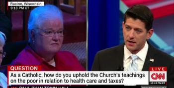 Paul Ryan Booed After Telling Nun The Social Safety Net 'Disincentivizes Work'