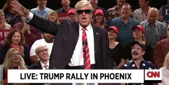 Alec Baldwin Returns As Trump For Phoenix Rally