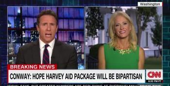 CNN's New Day: Kellyanne Conway Nonsensical On Hurricane Harvey