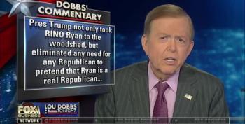Dobbs Blames Ryan For Trump's Cave To Democrats?