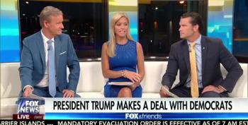 "Fox And Friends Calls Trump Working With Dems ""A Political Explosion'"