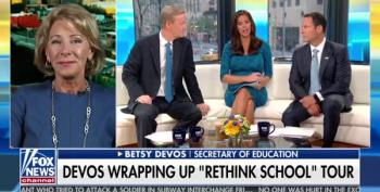 Fox And Friends Asks DeVos If Colleges Turn Youth Into 'Antifa'