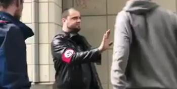 Neo-Nazi Gets Coldcocked In The Face
