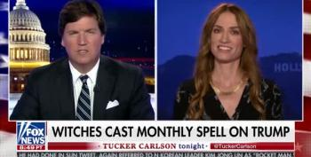 Tucker Carlson Interviews Witch Who Cast Spell To Keep Trump's Evil At Bay