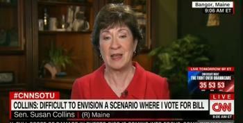 Sen. Collins: 'Very Difficult' To Imagine Backing GOP Health Care Bill