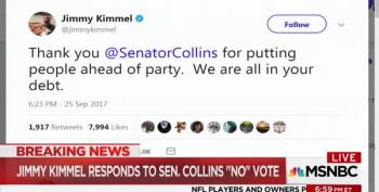 Jimmy Kimmel Responds To Susan Collins 'No' Vote On Graham Cassidy