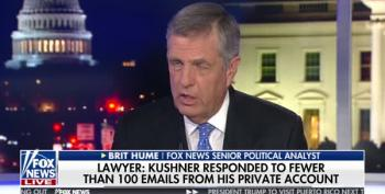 'Idiot Defense': Brit Hume Says Kushner's Private Email 'Rookie Mistake'