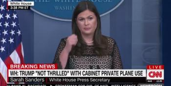 Sarah Sanders Whitesplains NFL Culture War To Black Reporter: 'It's Pretty Black And White'