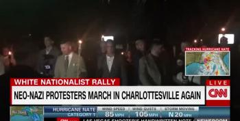 Torch-Wielding Nazis Try To March Again In Charlottesville